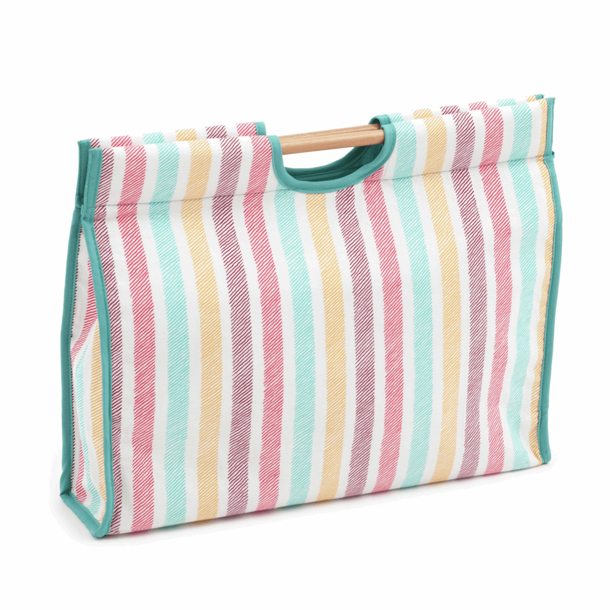 Picture of S&W Collection: Craft Bag with Wooden Handles: Sketch Stripe