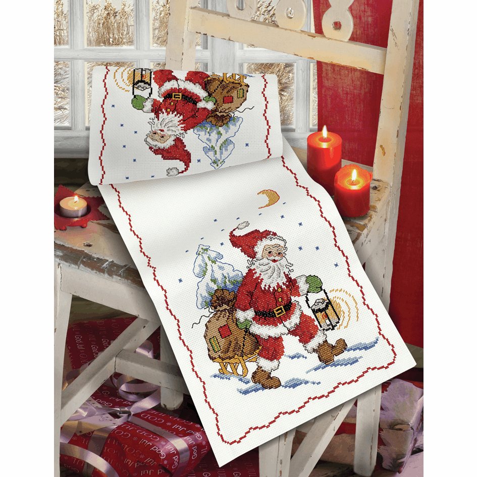Picture of Cross Stitch Kit: Santa and Sledge: Runner