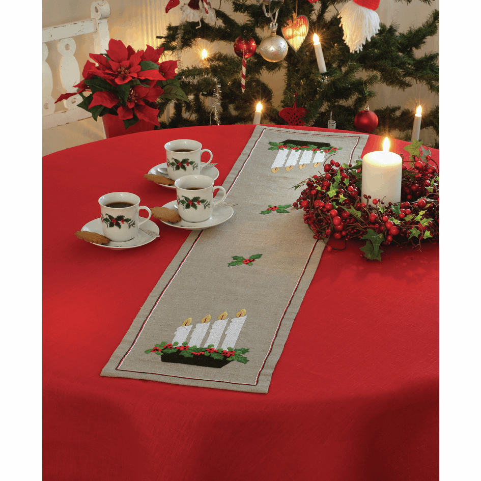 Picture of Embroidery Kit: Runner: Advent Candlestick