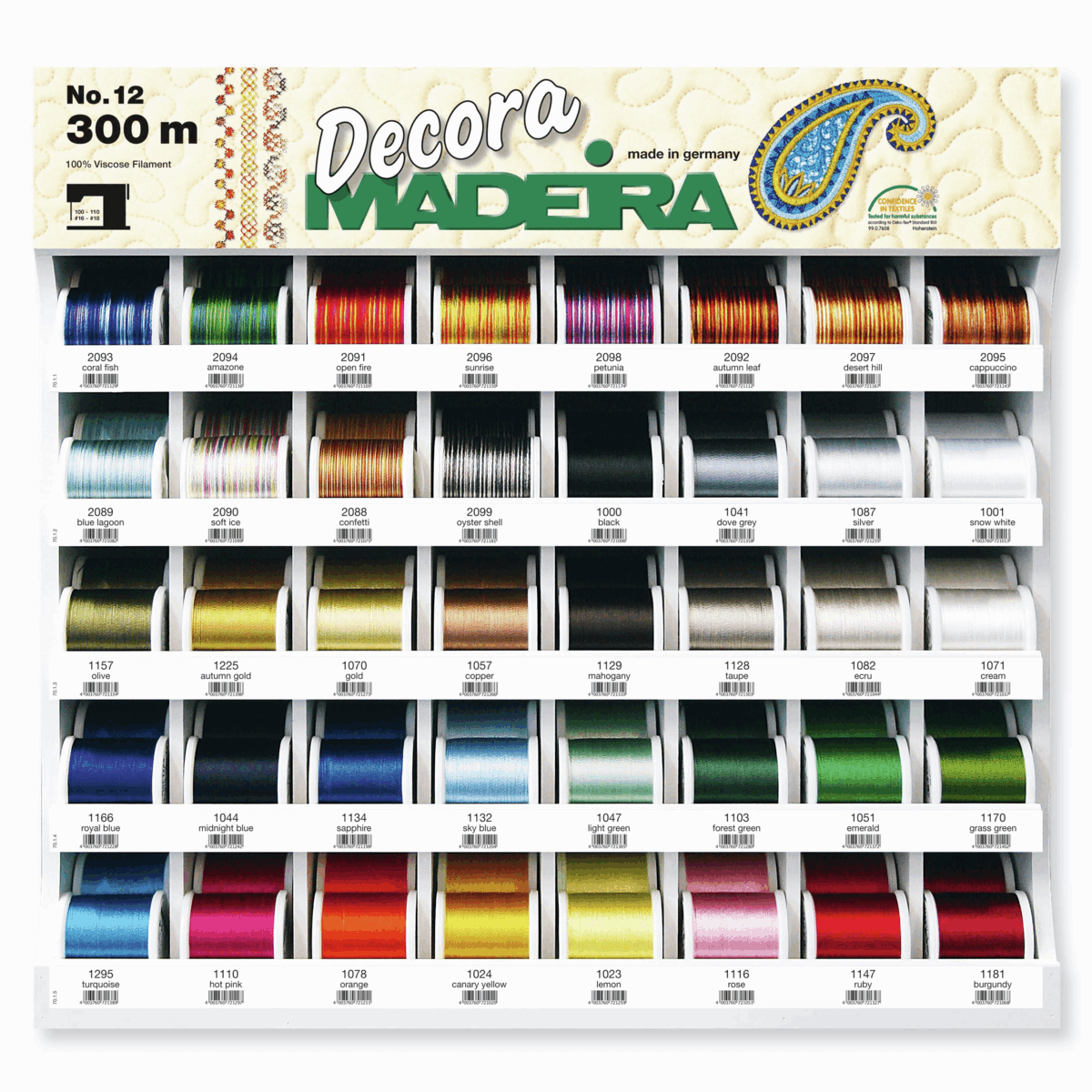 Picture of Decora No.12: 200 x 300m: 40 Colours: Display