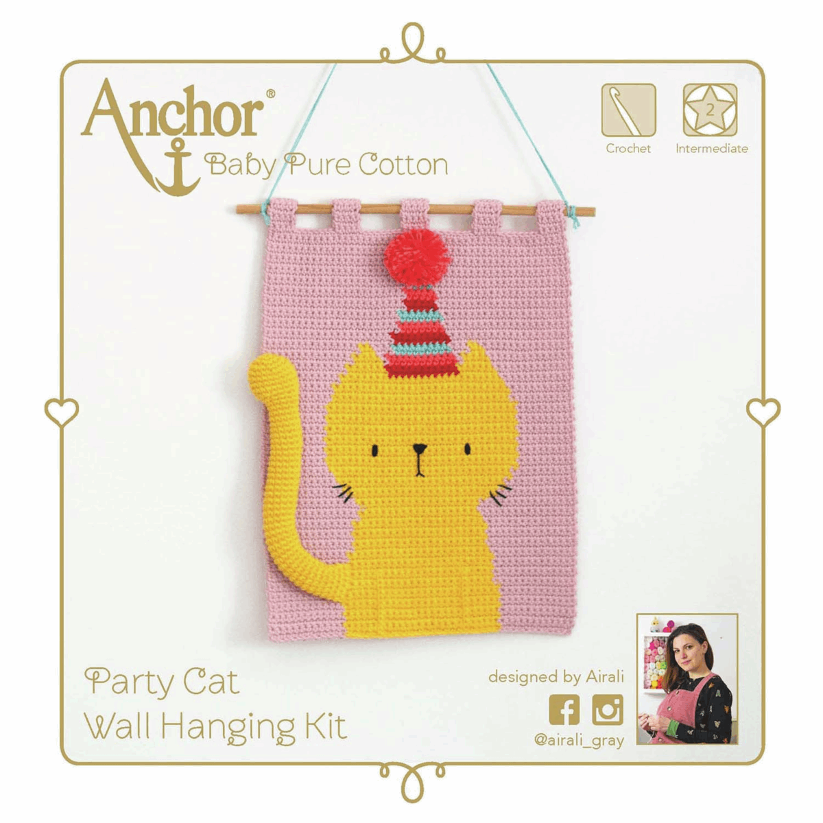 Picture of Crochet Kit: Wall Hanging: Cat