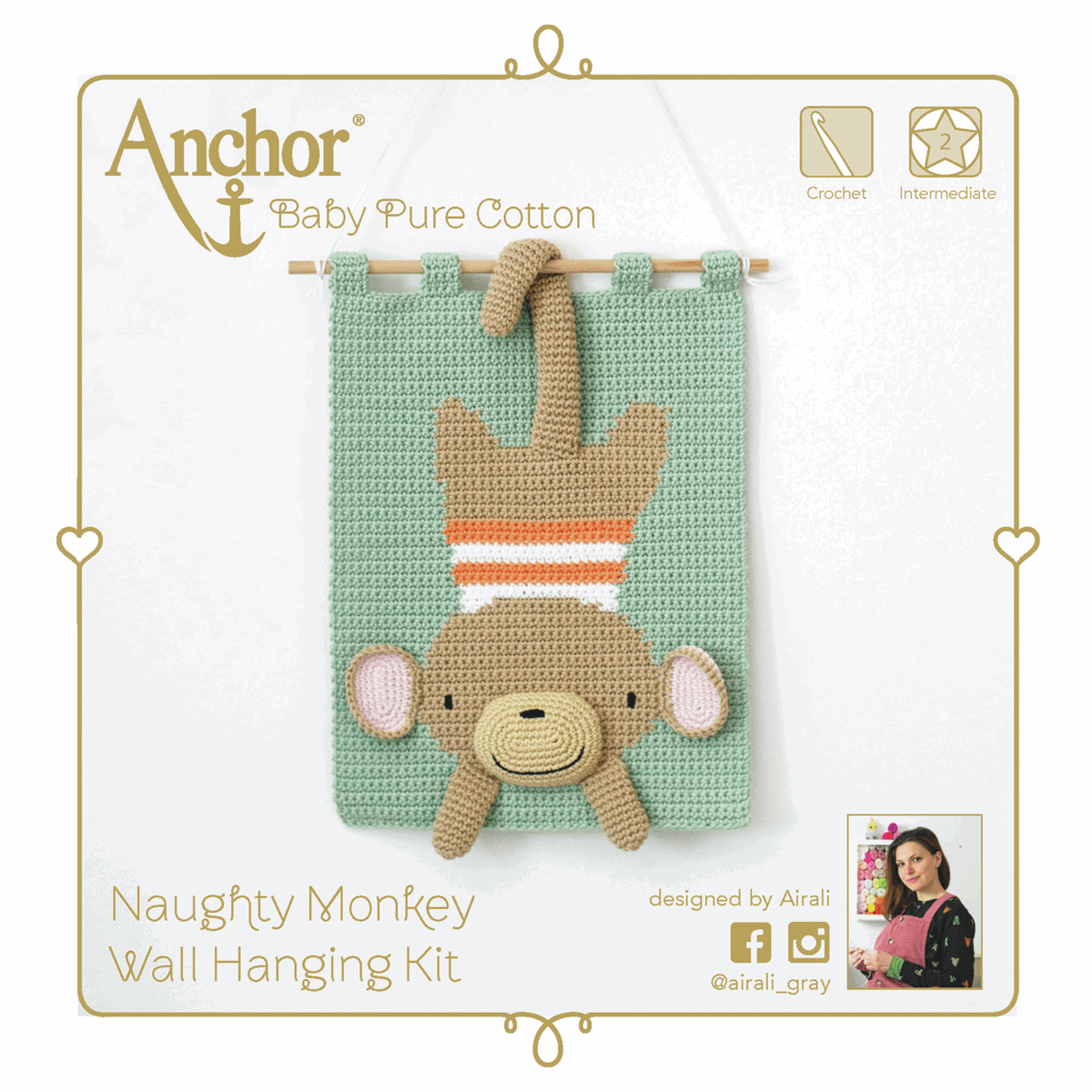 Picture of Crochet Kit: Wall Hanging: Monkey