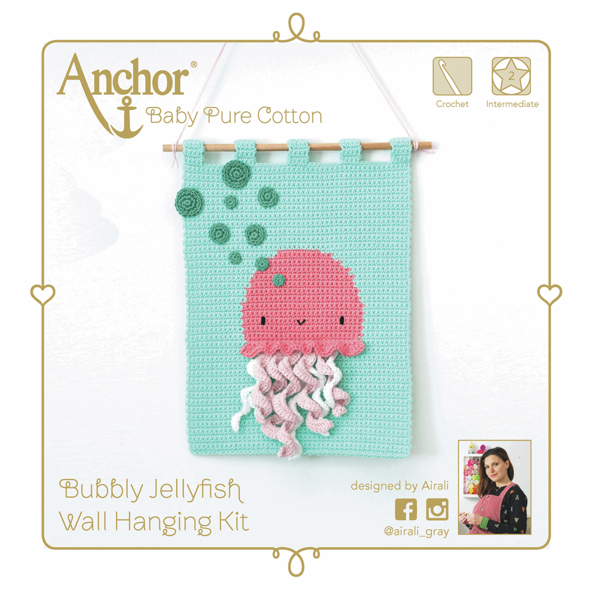 Picture of Crochet Kit: Wall Hanging: Jellyfish