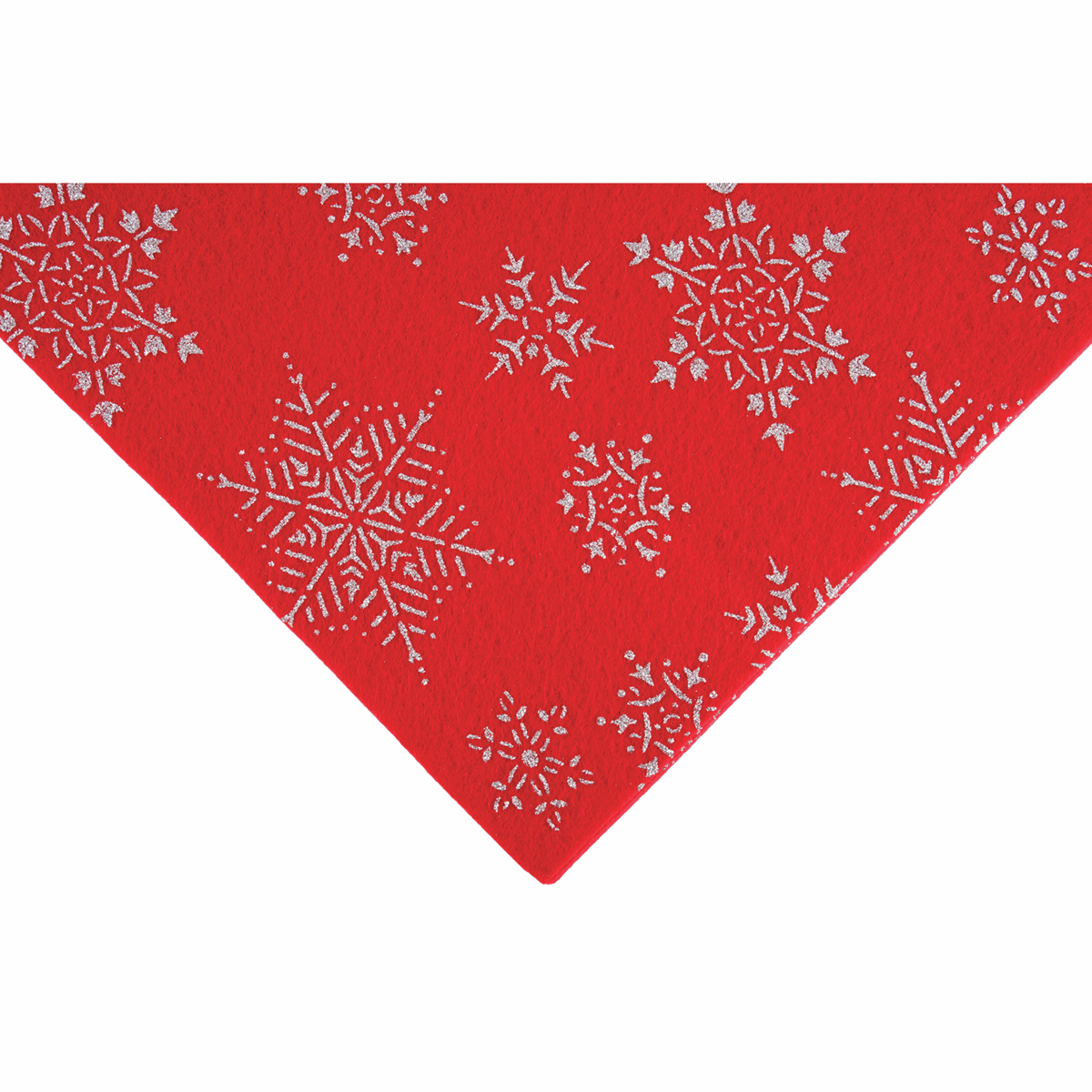 Picture of Felt Pack: Glitter Snowflake: 23cm x 30cm: Red: 20 Pieces