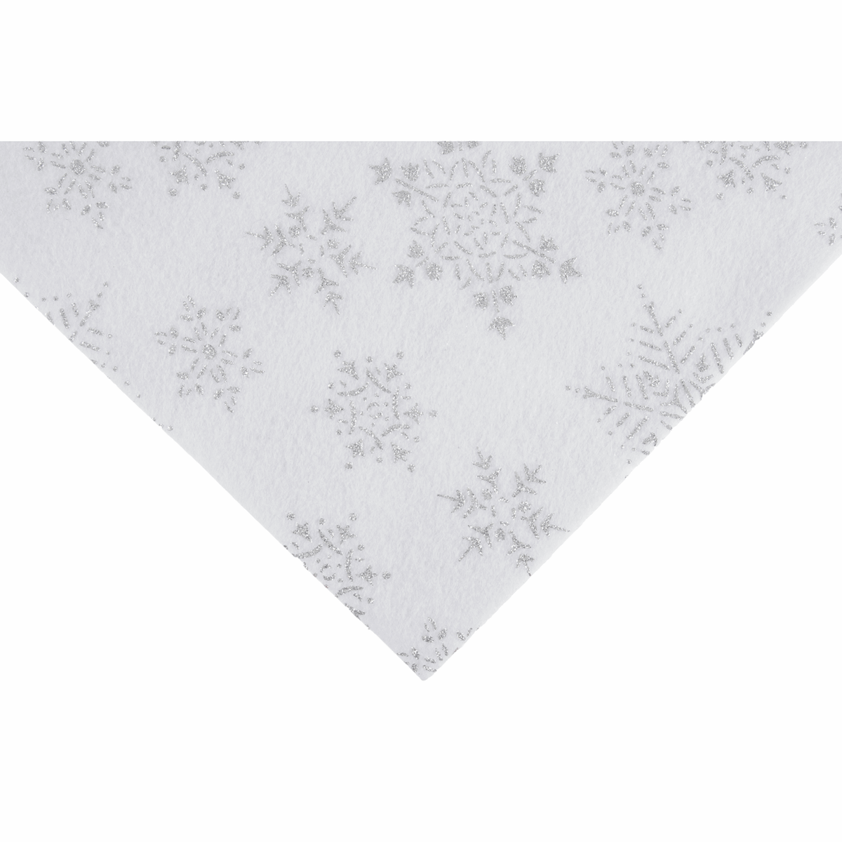 Picture of Felt Pack: Glitter Snowflake: 23cm x 30cm: White: 20 Pieces