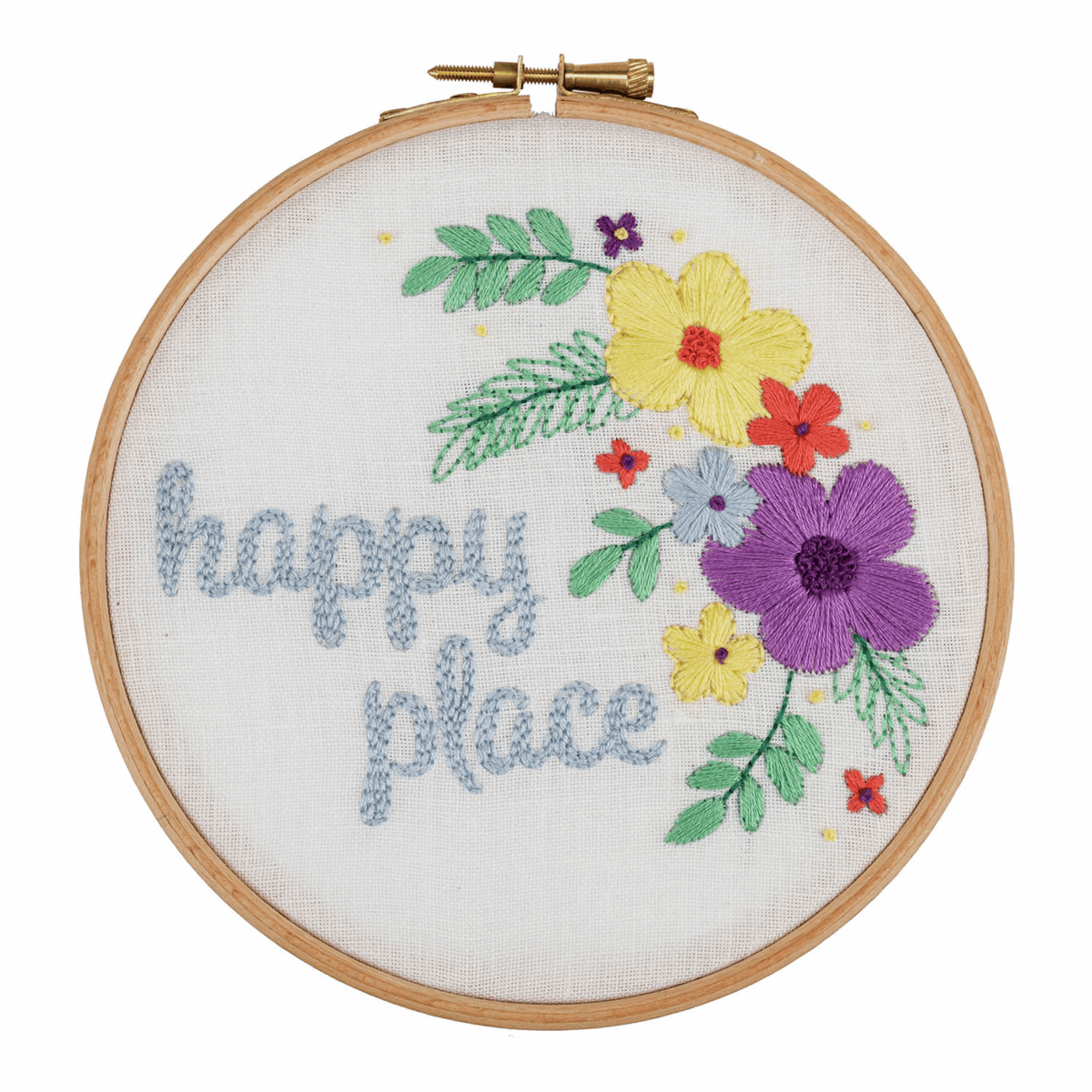 Picture of Embroidery Hoop Kit: Happy Place