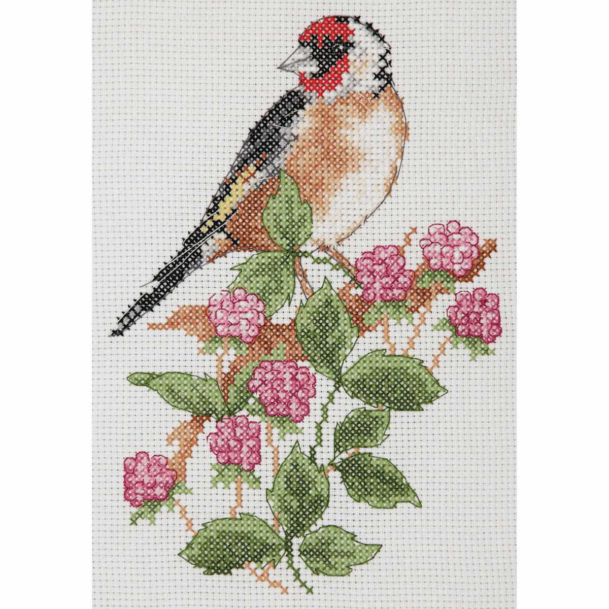 Picture of Counted Cross Stitch Kit: Starter: Goldfinch & Berries