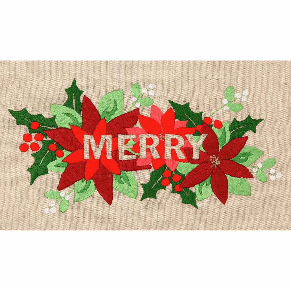 "Picture of Embroidery Kit: ""Merry""."
