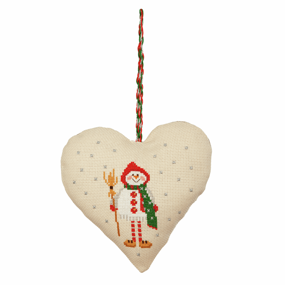 Picture of Counted Cross Stitch Kit: Heart Door Hanger: Snowman