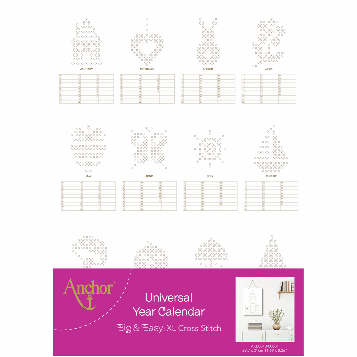 Picture of Cross Stitch Kit: Universal Year Calendar