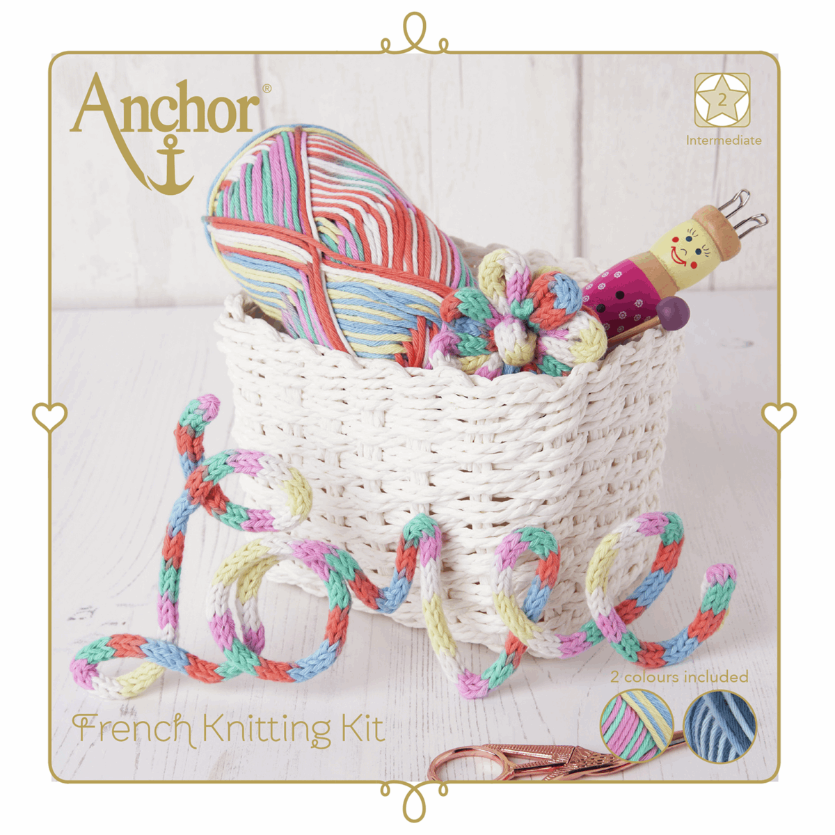 Picture of French Knitting Kit: Pastel