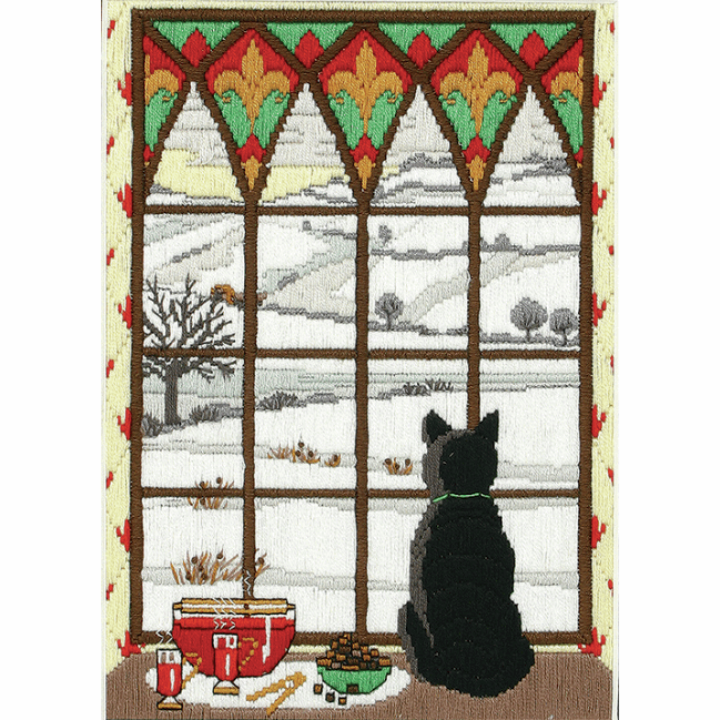 Picture of Long Stitch Kit: Winter Through the Window