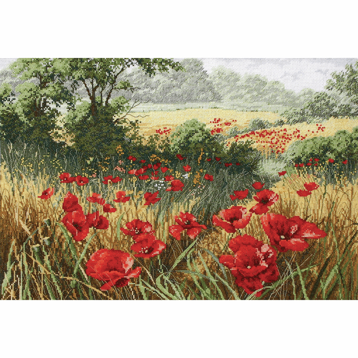 Picture of Counted Cross Stitch Kit: Maia: Host of Poppies