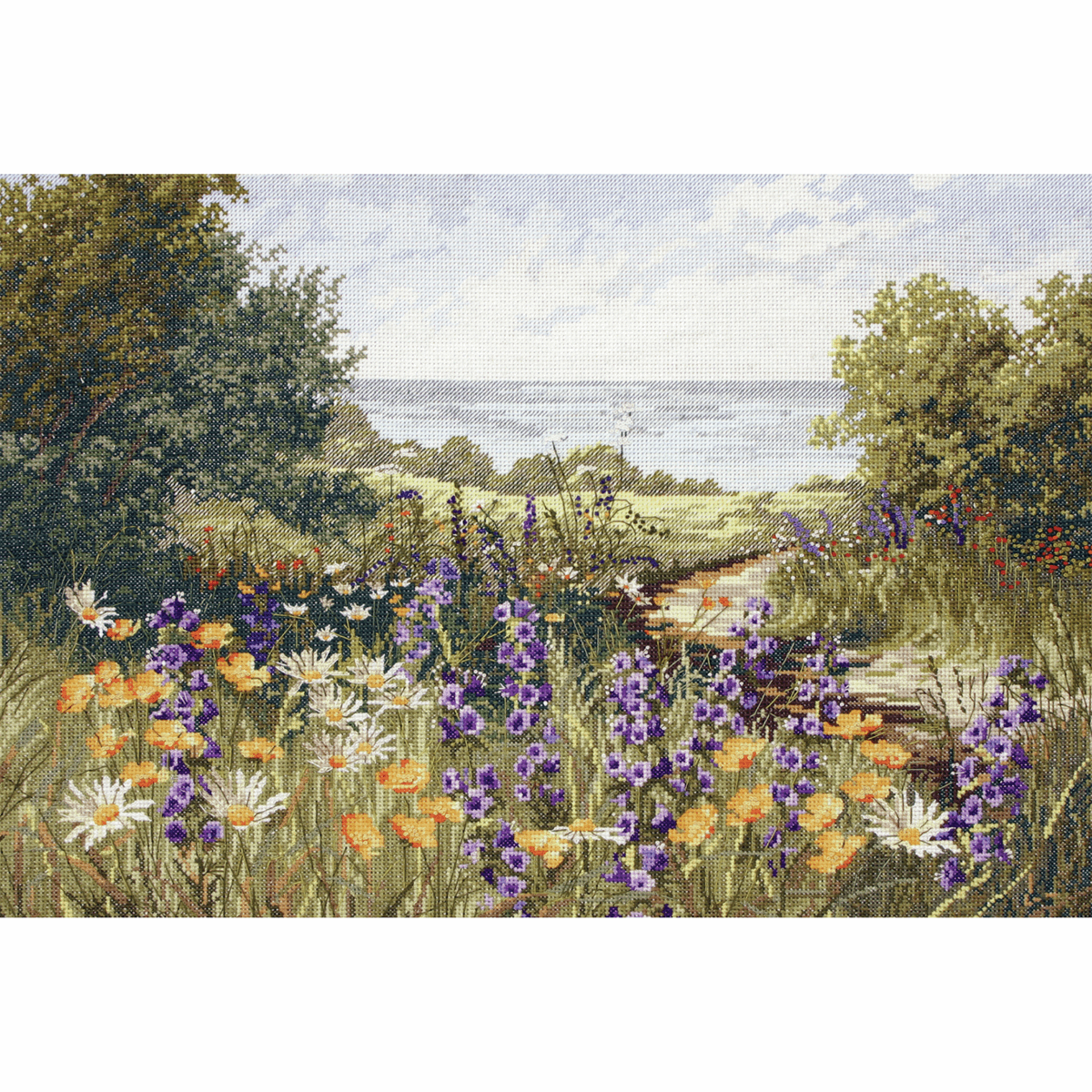 Picture of Counted Cross Stitch Kit: Maia: Clifftop Footpath