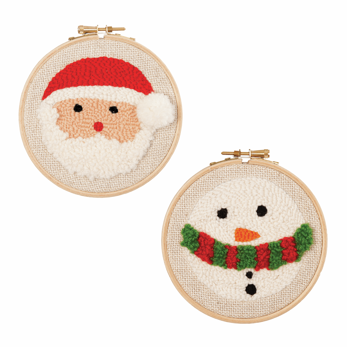 Picture of Punch Needle Kit: Santa & Snowman