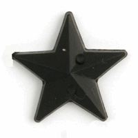 Picture of Acrylic Jewels: Sew-On: Star: Black: 100pk