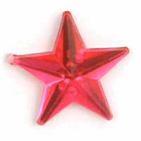Picture of Acrylic Jewels: Sew-On: Star: Cerise: 100pk
