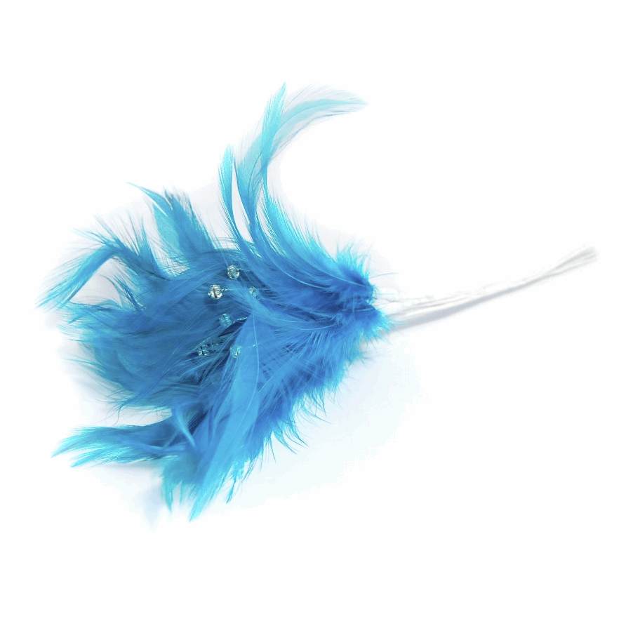 Picture of Feathers: Diamante: Pack of 6: Dark Turquoise