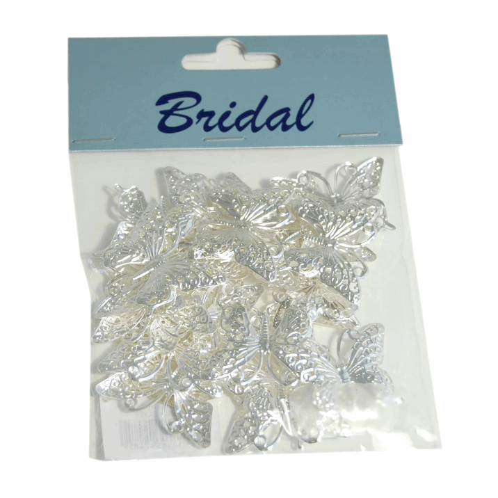 Picture of Table Decoration: Butterfly: 36mm: Pack of 24: Silver