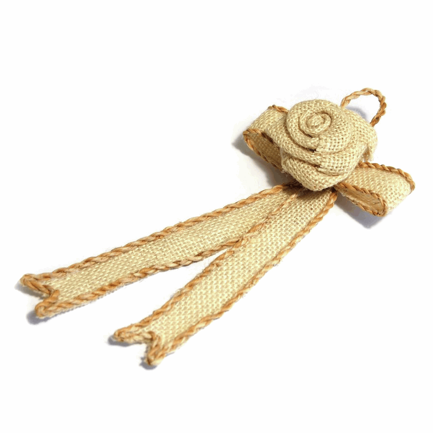 Picture of Table Decoration: Ribbon Hanger: 19 x 9cm: Pack of 1: Natural