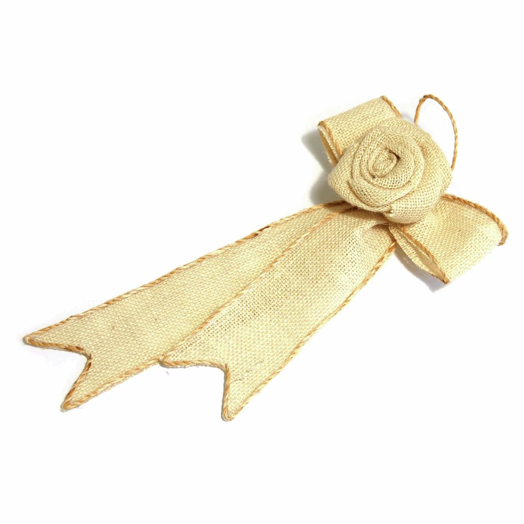 Picture of Table Decoration: Ribbon Hanger: 26 x 14.5cm: Pack of 1: Natural