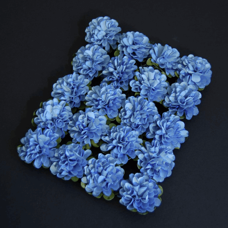 Picture of Flower: Heads: Paper: 3.4cm: Pack of 20: Blue