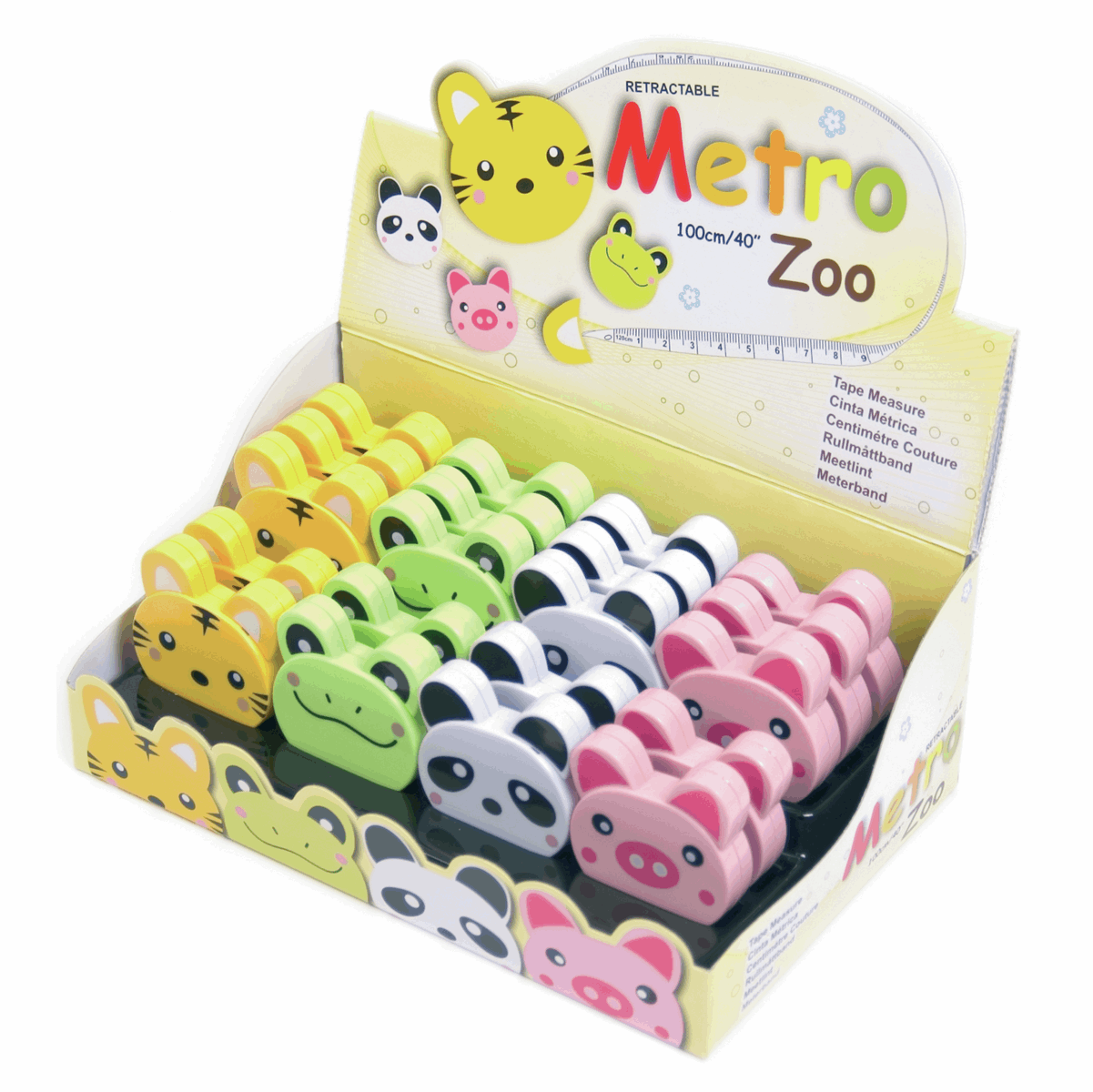 Picture of Counter Display Unit: Tape Measures: Zoo: 20 Pieces