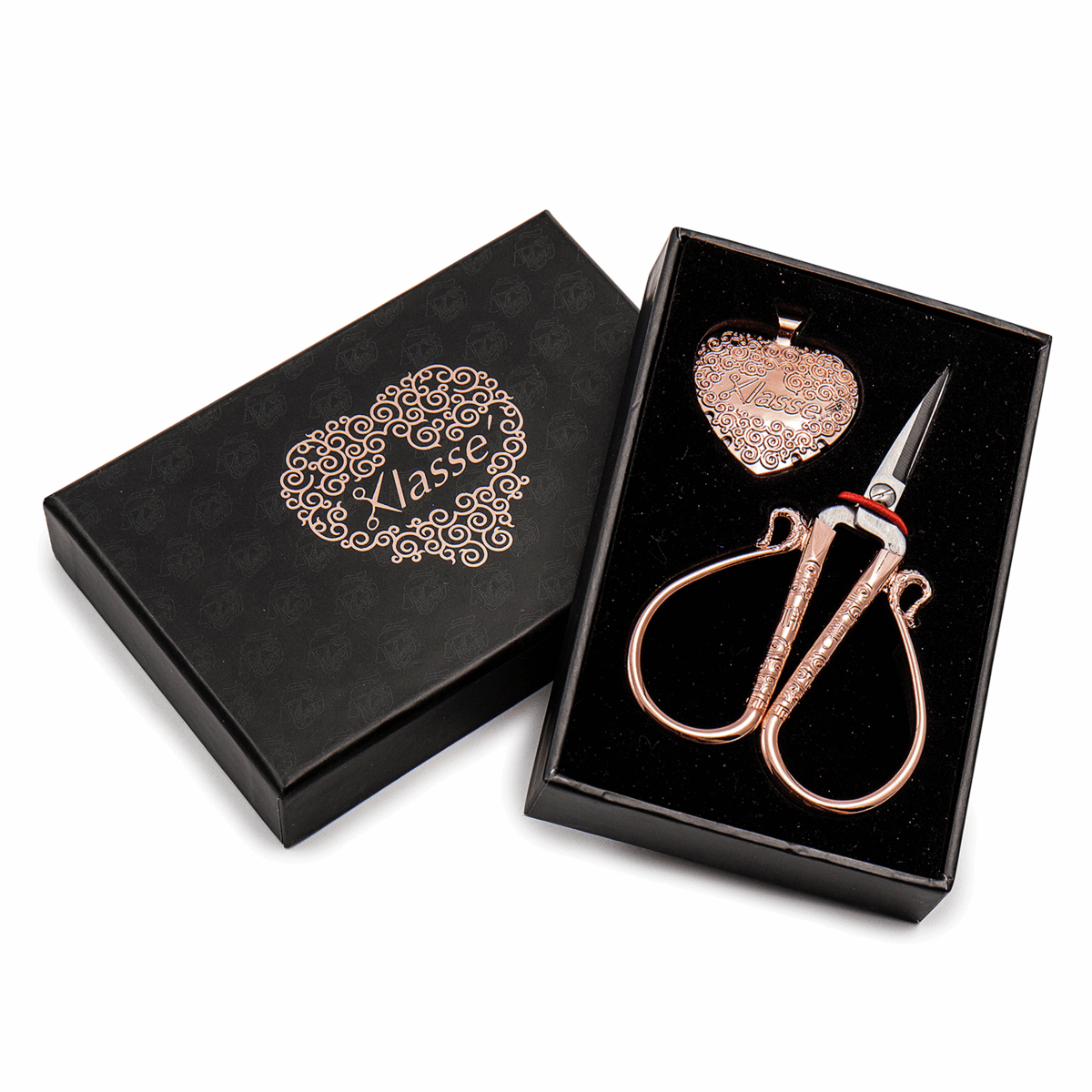 Picture of Scissor and Thread Cutter Gift Set: Rose Gold