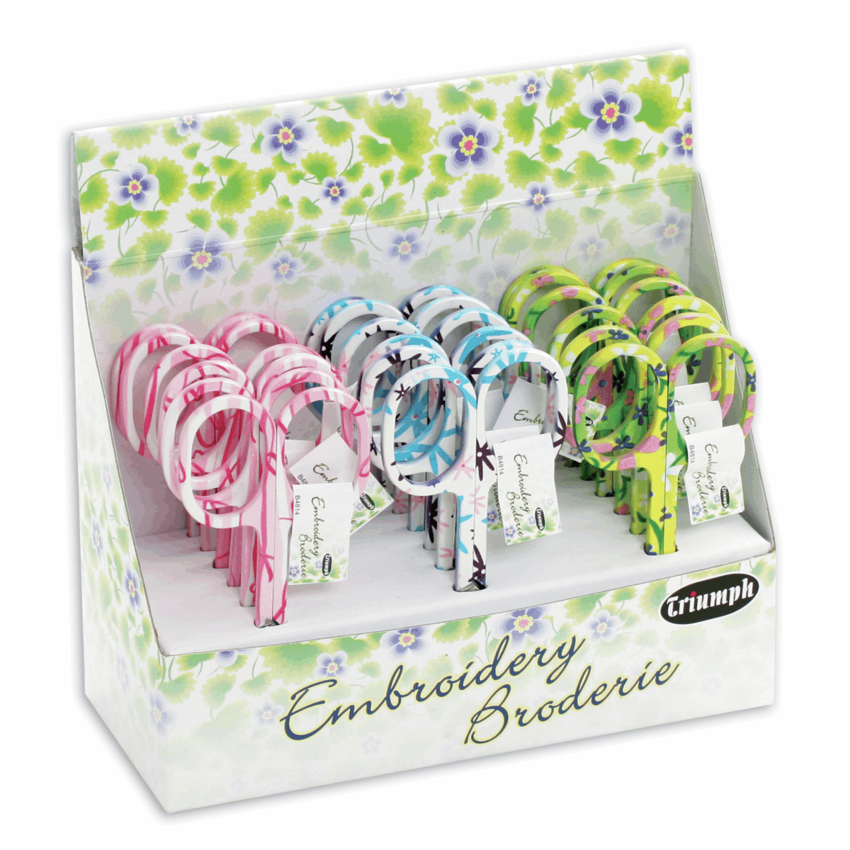 Picture of Counter Display Unit: Scissors: Embroidery: Floral: 18 Piece
