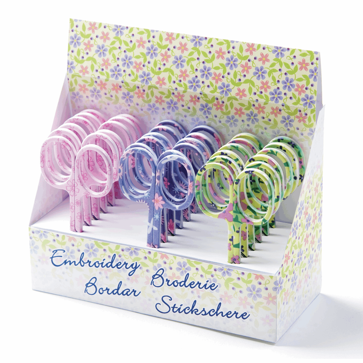 Picture of Counter Display Unit: Scissors: Embroidery: Floral: 18 Pieces