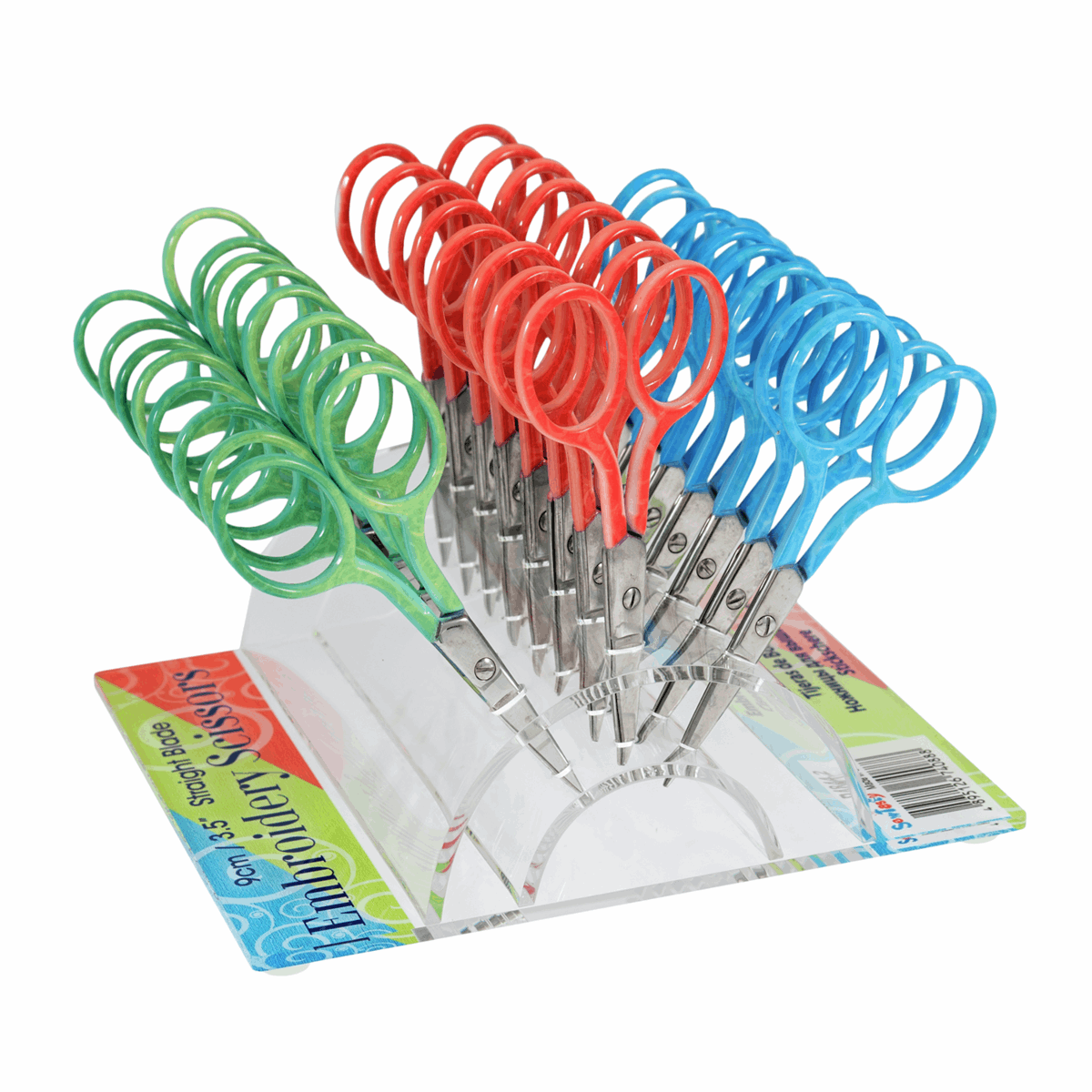 """Picture of Counter Display Unit: Embroidery Scissors: 9cm/3.5"""": 24 Pieces"""