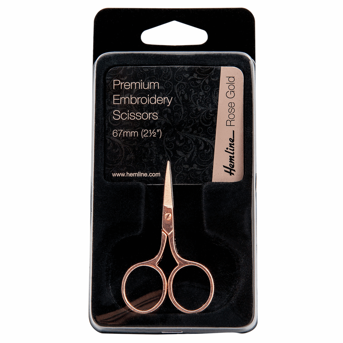 Picture of Scissors: Embroidery: 6.7cm/2.5in: Rose Gold