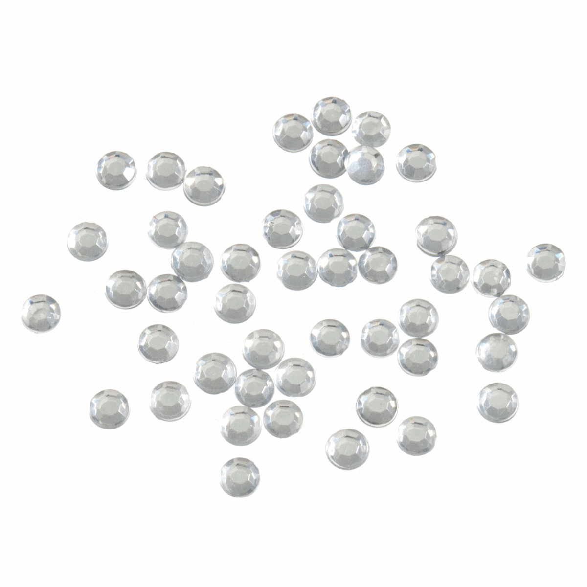 Picture of Acrylic Stones: Glue-On: Round: Small-4mm: Clear