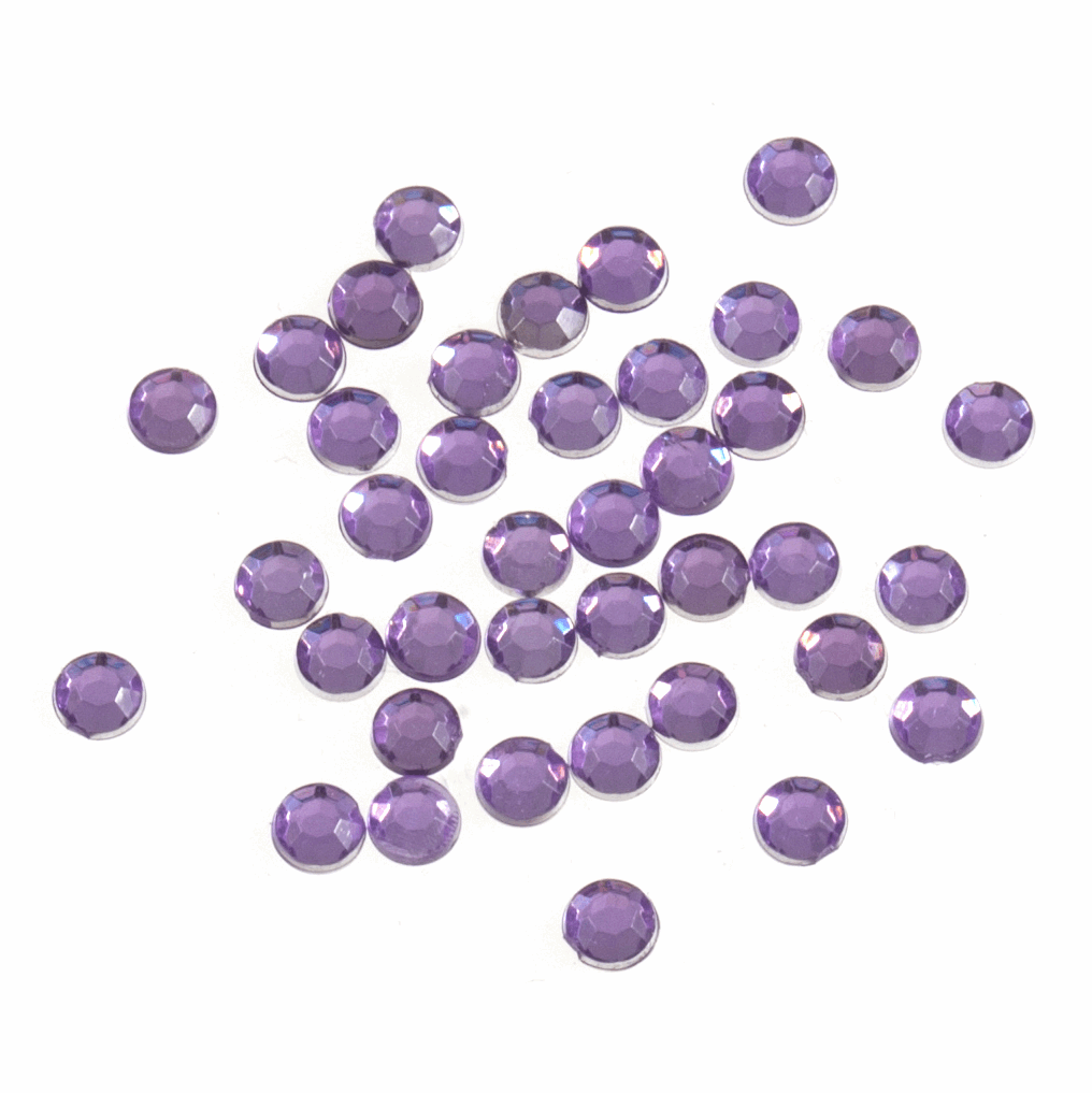 Picture of Acrylic Stones: Glue-On: Round: Small-4mm: Lilac