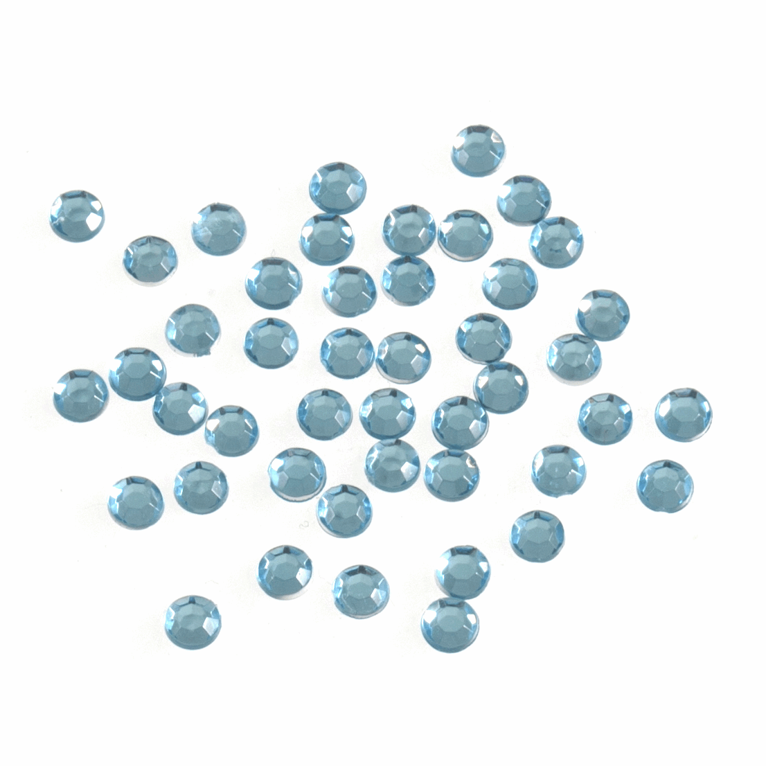 Picture of Acrylic Stones: Glue-On: Round: Small-4mm: Blue