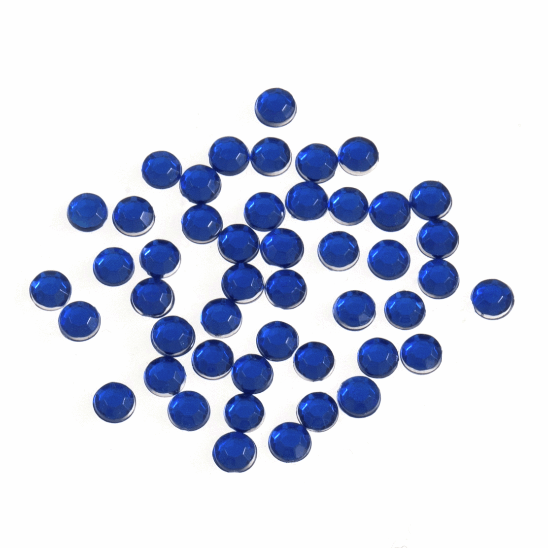 Picture of Acrylic Stones: Glue-On: Round: Small-4mm: Royal