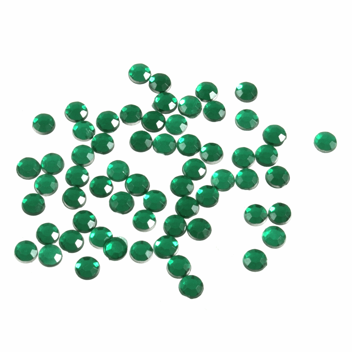 Picture of Acrylic Stones: Glue-On: Round: Small-4mm: Green