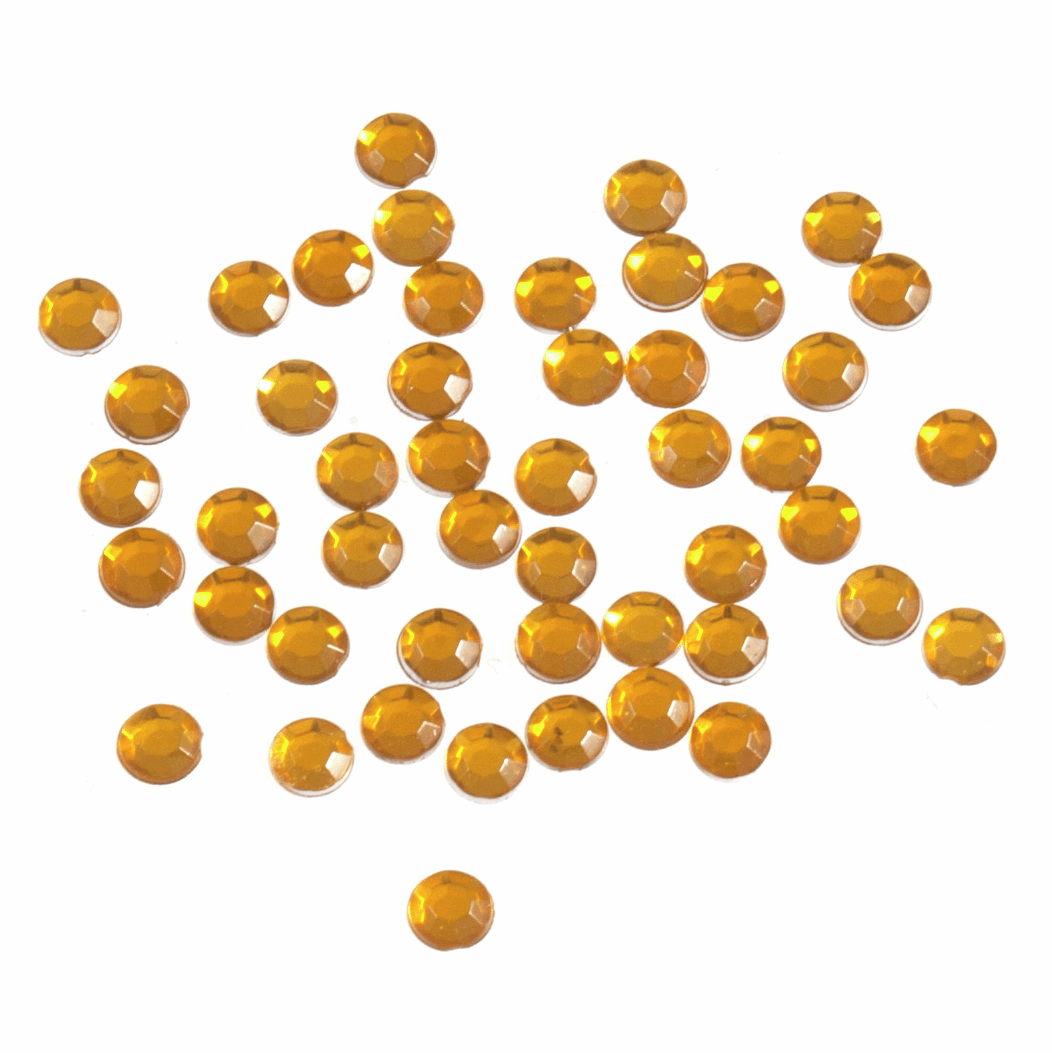 Picture of Acrylic Stones: Glue-On: Round: Small-4mm: Gold