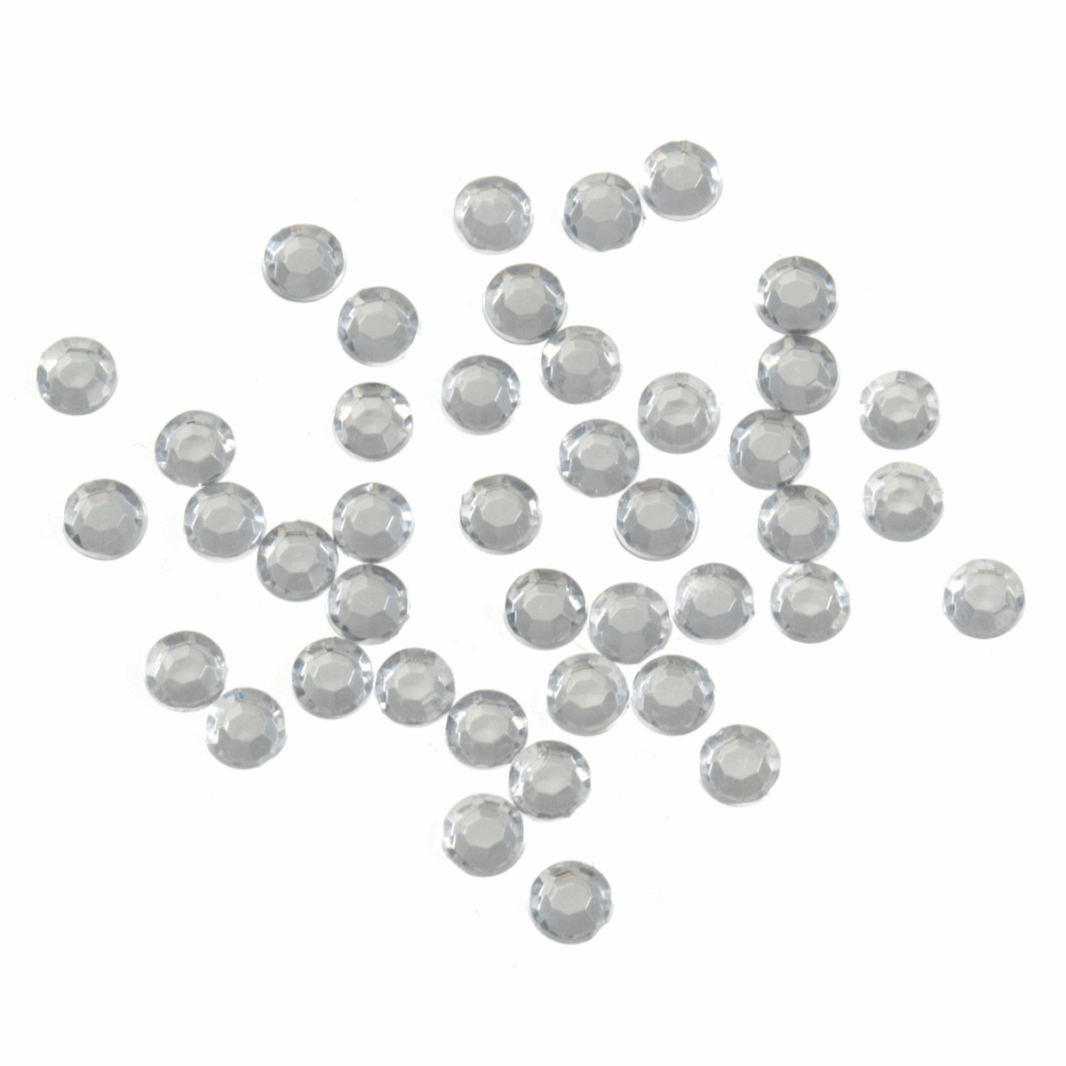 Picture of Acrylic Stones: Glue-On: Round: Medium-5mm: Clear