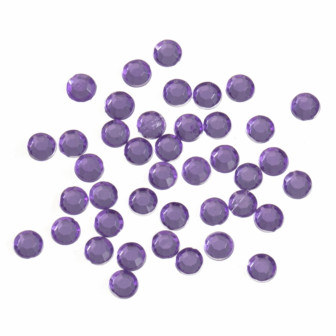 Picture of Acrylic Stones: Glue-On: Round: Medium-5mm Lilac