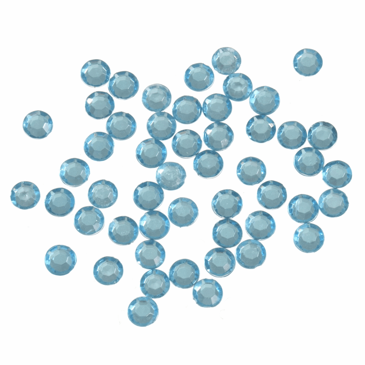 Picture of Acrylic Stones: Glue-On: Round: Medium-5mm Blue