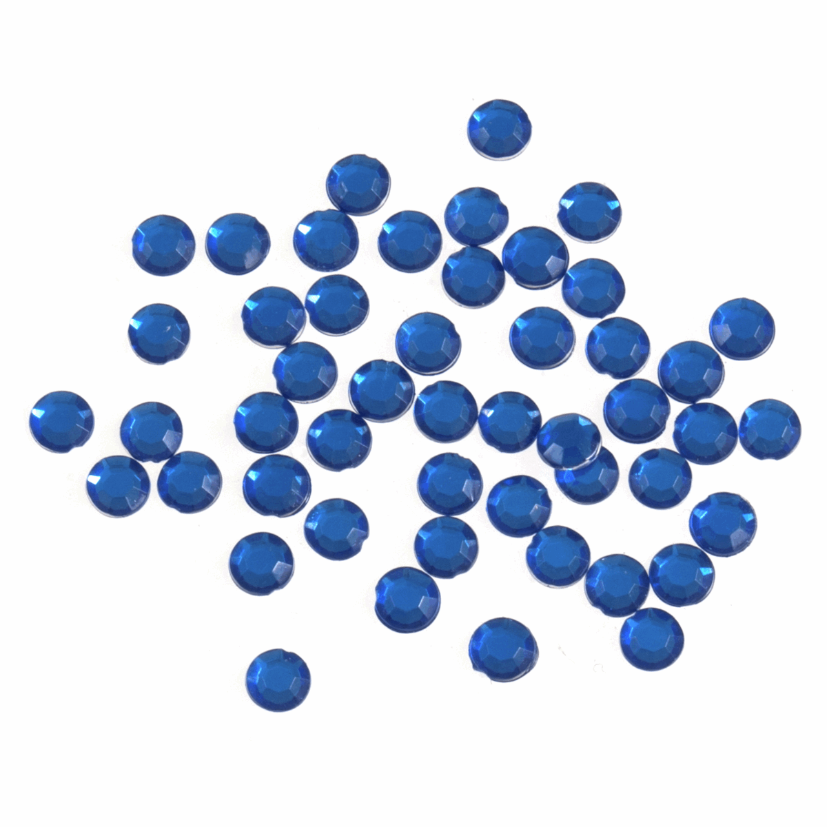 Picture of Acrylic Stones: Glue-On: Round: Medium-5mm: Royal