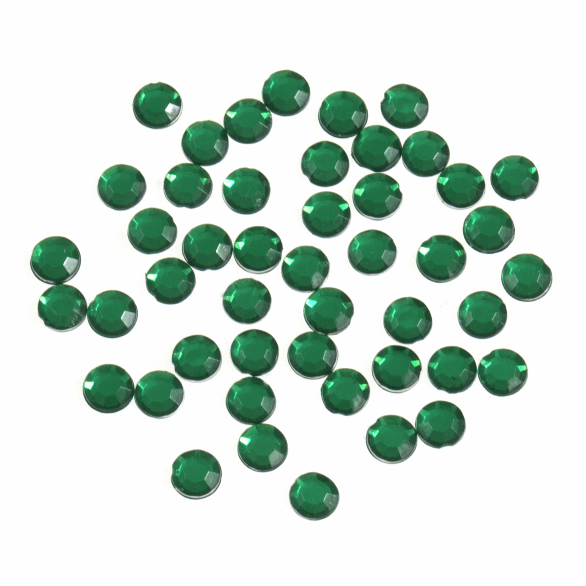 Picture of Acrylic Stones: Glue-On: Round: Medium-5mm: Green