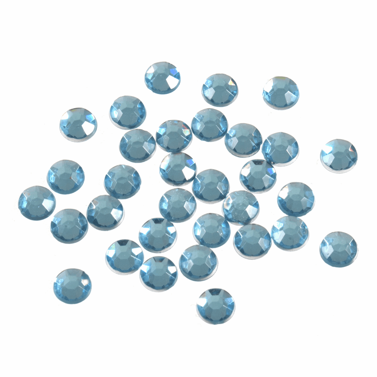 Picture of Acrylic Stones: Glue-On: Round: Large-7mm: Blue