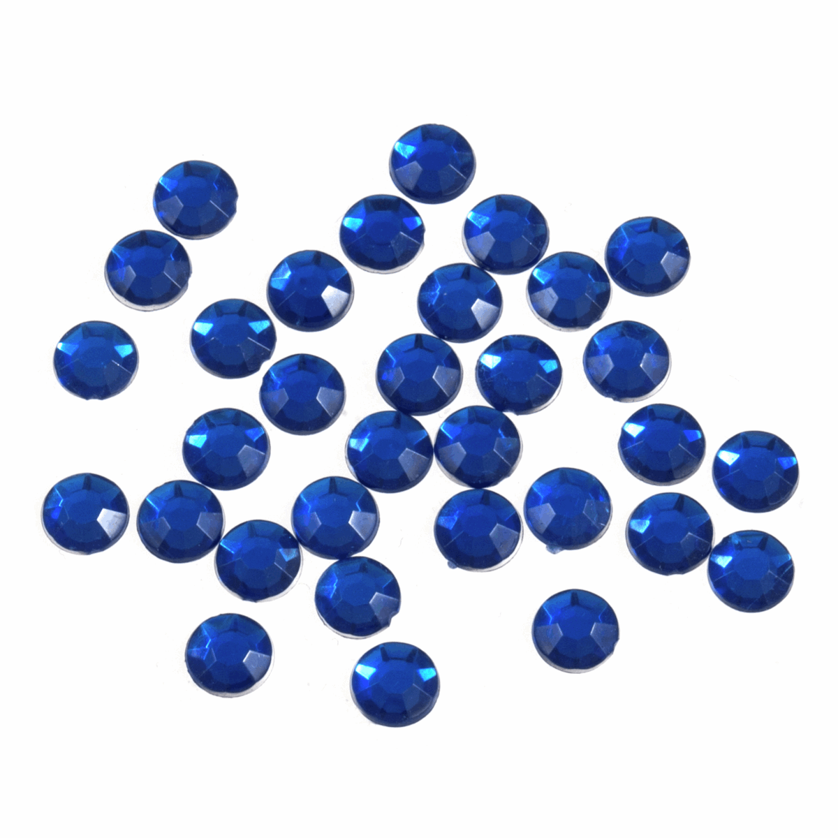 Picture of Acrylic Stones: Glue-On: Round: Large-7mm: Royal