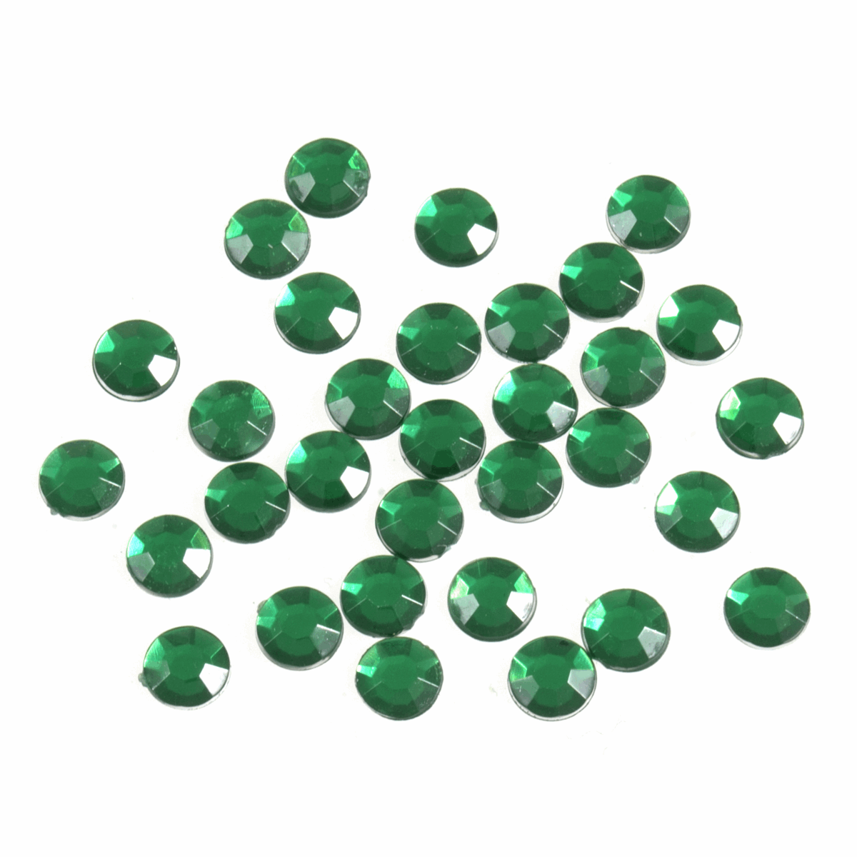 Picture of Acrylic Stones: Glue-On: Round: Large-7mm: Green