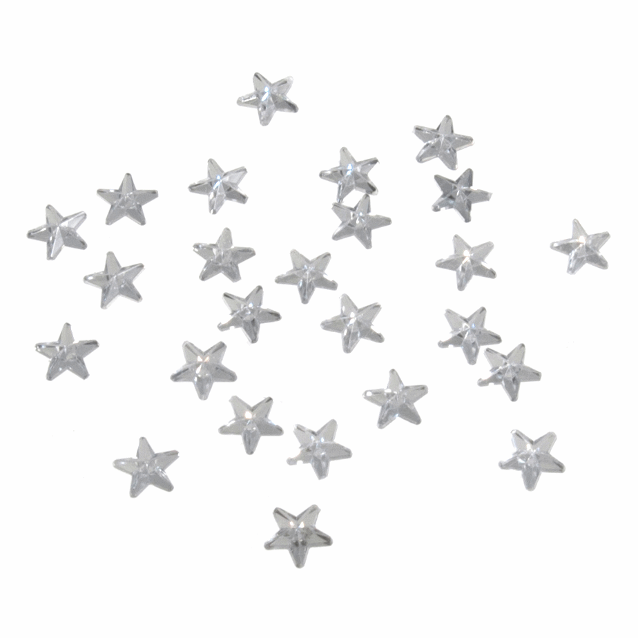 Picture of Acrylic Stones: Glue-On: Star: 6mm: Clear