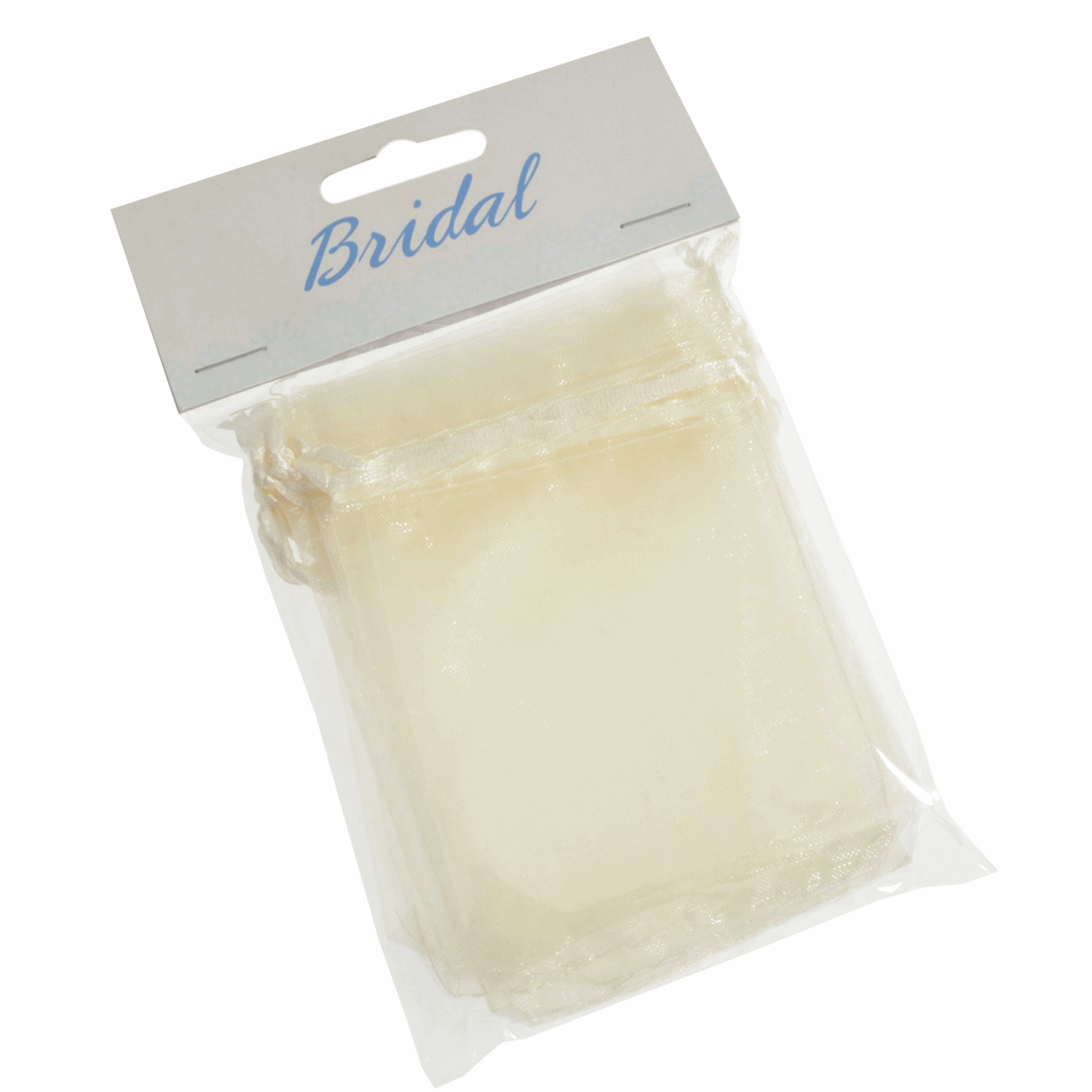 Picture of Bag: Organza:7.5 x 10cm: Pack of 10: Ivory
