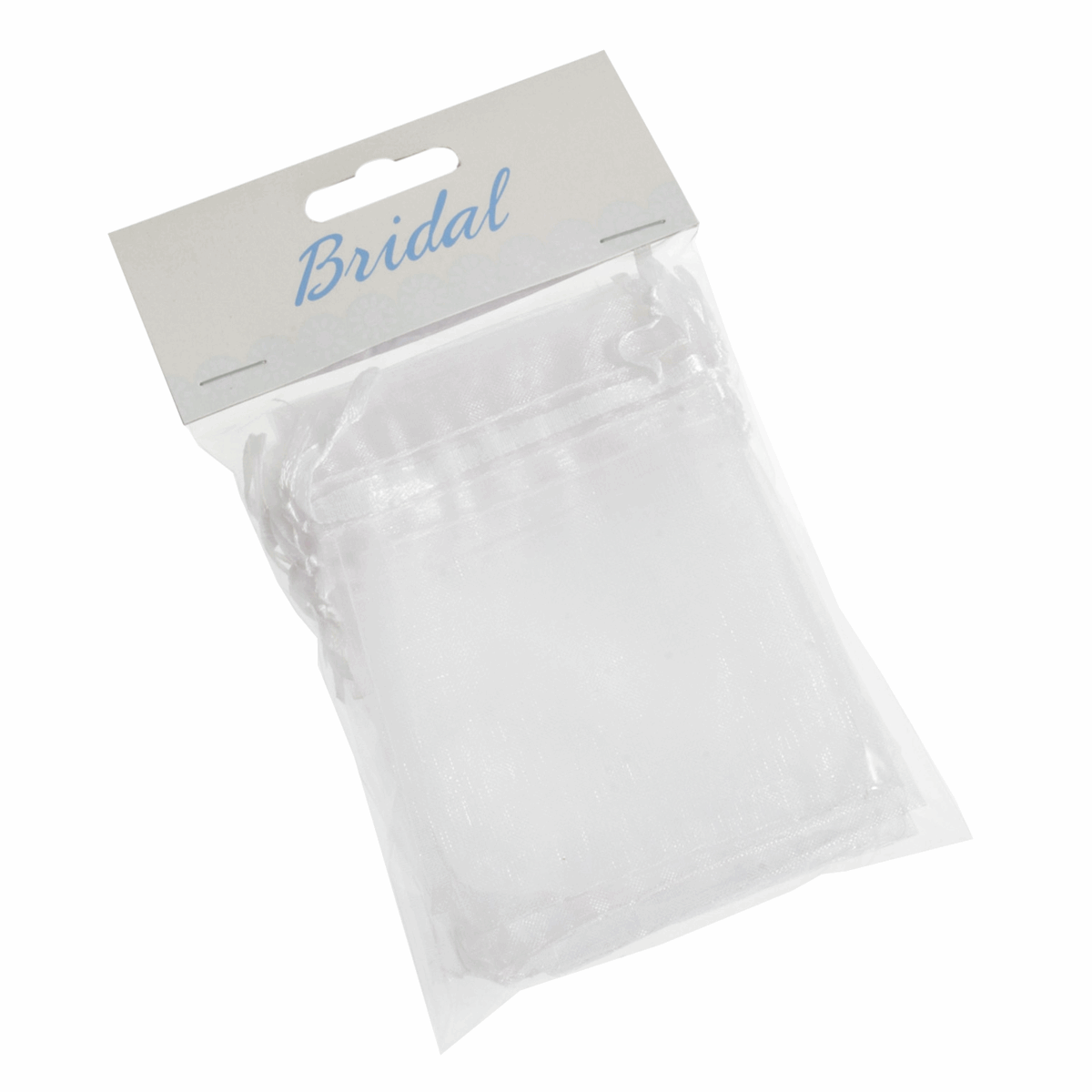 Picture of Bag: Organza: 7.5 x 10cm: Pack of 10: White