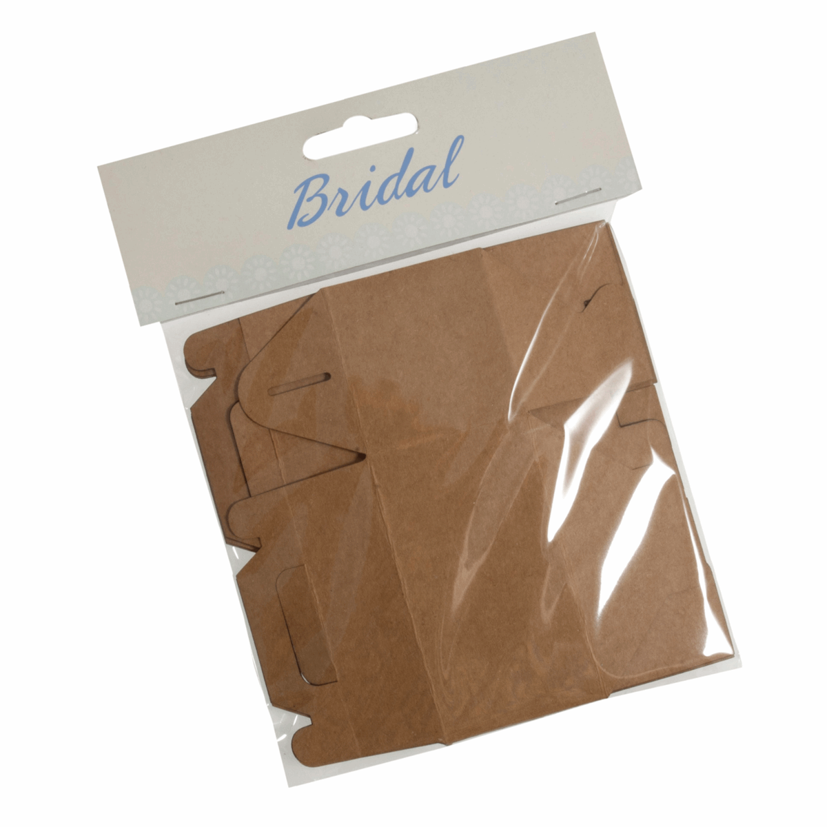 Picture of Favour Boxes: Kraft Card: Brown: Pack of 4